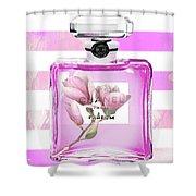 Chanel Pink Flower 5 Shower Curtain