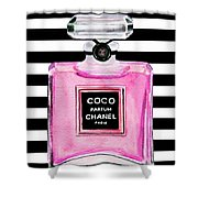 Chanel Pink Perfume 1 Shower Curtain