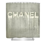 Chanel Plakative Fashion - Simple Beige Shower Curtain