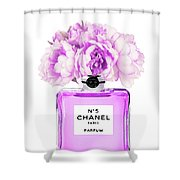 Chanel Print Chanel Poster Chanel Peony Flower Shower Curtain