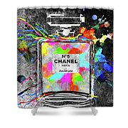Chanel Rainbow Colors Shower Curtain