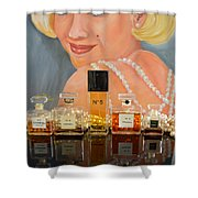 Chanels With Marilyn Monroe Shower Curtain