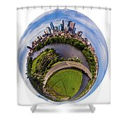 Change Your Perspective Minneapolis White Surround Shower Curtain