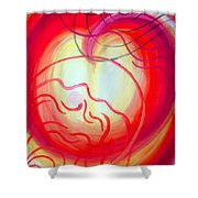 Changes In Mood And Mind. Double Light Shower Curtain