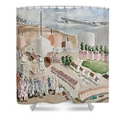 Changing Cityscape Slough Shower Curtain