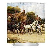 Changing Horses Shower Curtain