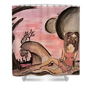 Changing Moons Shower Curtain