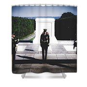 Changing Of The Guard At The Tomb Of The Unknowns At Arlington Shower Curtain
