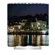 Chania By Night  Shower Curtain