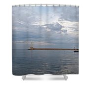 Chania Old Harbour Shower Curtain