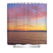 Channel Islands And Pacific At Sunset Shower Curtain