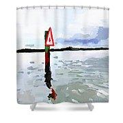 Channel Marker, Banana River, Merritt Island, Fl Shower Curtain