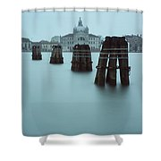 Channel Markers, Venice, Italy Shower Curtain
