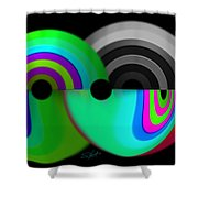 Chaos Balls Shower Curtain