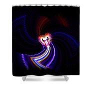 Chaos Dance Shower Curtain