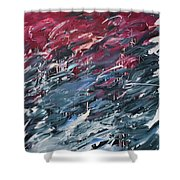 Chaos Serie, I Shower Curtain by Daniel Hannih
