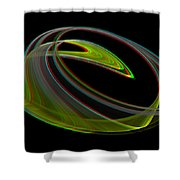 Chaoscope Design 3 - Use Red-cyan 3d Glasses Shower Curtain