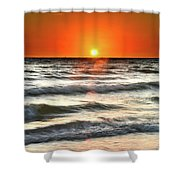 Chaotic Calm Shower Curtain