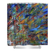 Chaotic Dome Shower Curtain