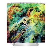 Chaotic Play Of Color Shower Curtain