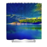 Chapel By The Lake Shower Curtain