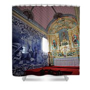 Chapel In Azores Islands Shower Curtain