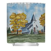 Chapel In Fall Shower Curtain