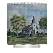 Chapel In Summer Shower Curtain