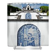 Chapel In The Azores Shower Curtain