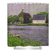 Chapel In The Mist - Gougane Barra - County Cork - Ireland Shower Curtain