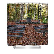 The Chapel In The Park Shower Curtain