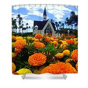 Chapel In The Sky Shower Curtain