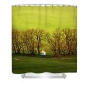 Chapel-in-trees Shower Curtain