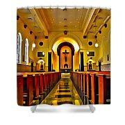Chapel Interior I Shower Curtain