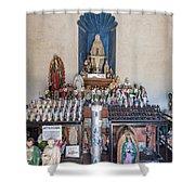 Chapel Mortuary Interior - San Xavier Del Bac Mission - Tucson Arizona Shower Curtain