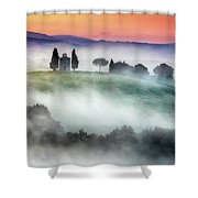 Chapel Of Our Lady Of Vitaleta Shower Curtain
