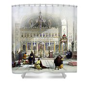 Chapel Of The Convent Of St Saba Shower Curtain