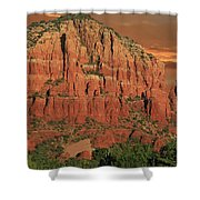 Chapel Of The Holy Cross At Sunset Shower Curtain
