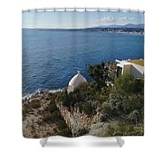 Chapel Over The Sea Shower Curtain