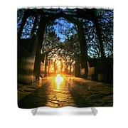 Chapel Sunset Shower Curtain
