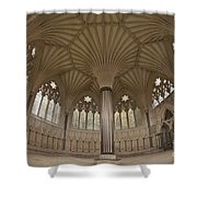 Chapter House, Wells Cathedral, Somerset Uk Shower Curtain