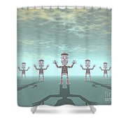 Characters Made Of Stone Shower Curtain