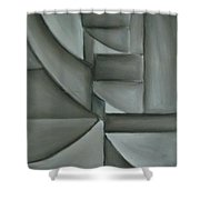 Charcoal Abstract Shower Curtain