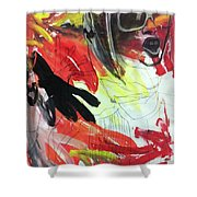 Charcoal Drawing Shower Curtain