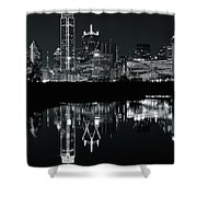 Charcoal Night In Dallas Shower Curtain
