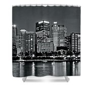 Charcoal Panoramic In Pittsburgh 2017 Shower Curtain