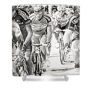 Charcoal Racers Shower Curtain