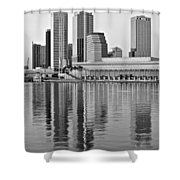 Charcoal Tampa Shower Curtain