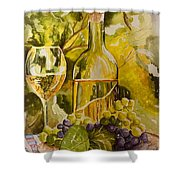 Chardonnay At The Vineyard Shower Curtain