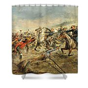 Charge Of The Seventh Cavalry Shower Curtain